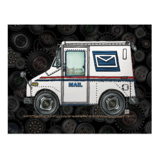 Cute Mail Truck Postcard