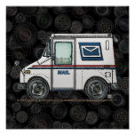 Cute Mail Truck Poster