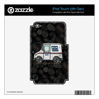 Cute Mail Truck iPod Touch 4G Decals