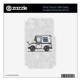 Cute Mail Truck Skin For iPod Touch 4G
