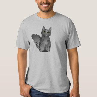 Cute Maine Coon Cat Cartoon - Silver Tabby Shirt