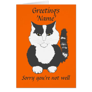 Cute Maine Coon Cat Get Well Card