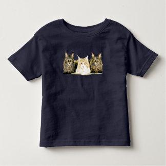 Cute Maine Coon Cats Modern Art Toddler's T-Shirt