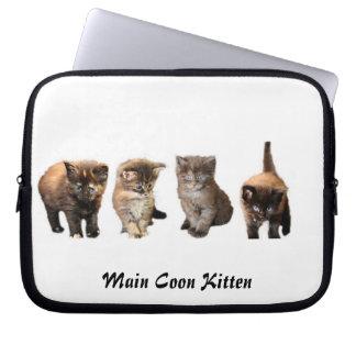 Cute Maine Coon Kitten laptop sleeve