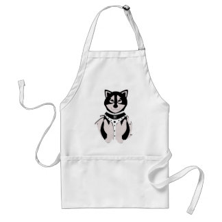 Cute Malamute Sled Dog In Harness Aprons