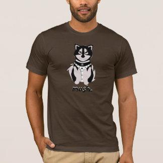 Cute Malamute Sled Dog In Harness T-Shirt