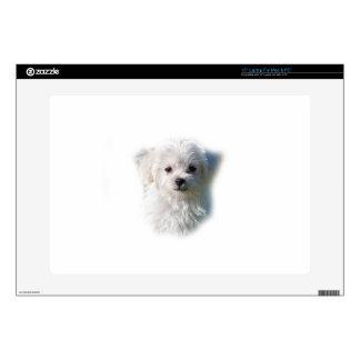 "Cute Maltese Dog 15"" Laptop Decal"