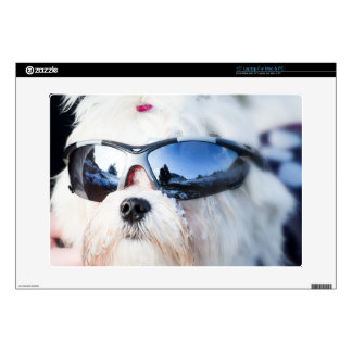 "Cute Maltese Dog 15"" Laptop Skins"