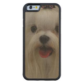 Cute Maltese Dog Carved® Maple iPhone 6 Bumper