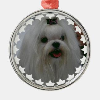 Cute Maltese Christmas Tree Ornament