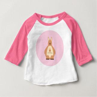 Cute Mama Kangaroo Baby Girl Shirt