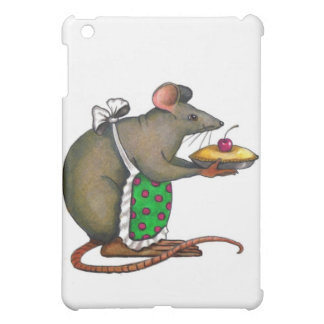 Cute Mama Rat With Pie: Drawing: Color Pencil iPad Mini Covers
