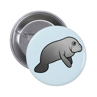 Cute Manatee Button