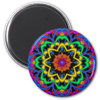 Cute Mandala Birthday magnet with Text