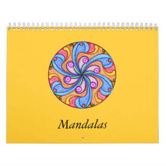 Cute mandala coloring book Calendar