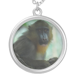 Cute Mandrill Personalized Necklace