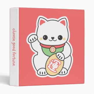Cute Maneki Neko 3 Ring Binder