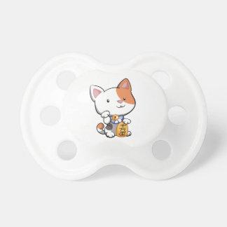 Cute Maneki Neko Lucky Beckoning Cat Baby Pacifier
