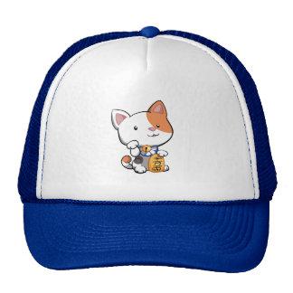 Cute Maneki Neko (Lucky Beckoning Cat) Trucker Hat