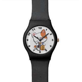 Cute Maneki Neko (Lucky Beckoning Cat) Wrist Watch