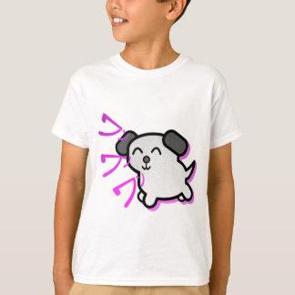 cute manga style dog design - purple t shirt