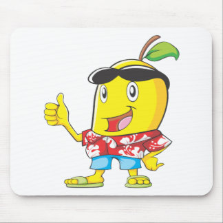 Cute Mango in Hawaiian Shirt Two Thumbs Up! Mouse Pads
