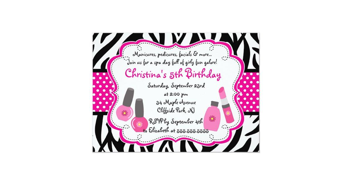 Cute Manicure Spa Birthday Party Invitation | Zazzle.com