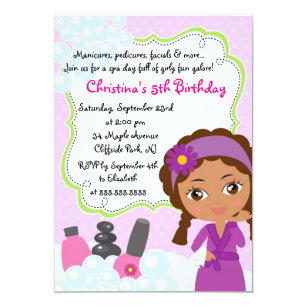 Spa Party Invitations Announcements Zazzle