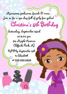 spa day birthday party invitations houston hospitality