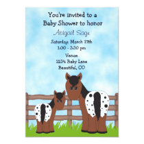 Cute Mare and Foal Appaloosa Horse Baby Shower Invitation