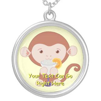 Cute Margarita Monkey Necklace