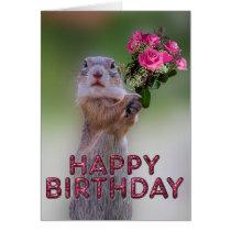 Cute marmot card