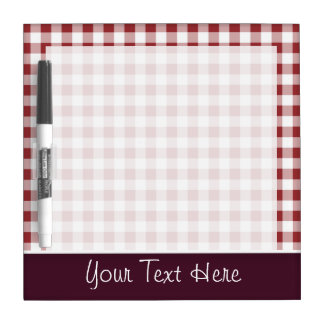 Cute Maroon Checkered Dry Erase Board