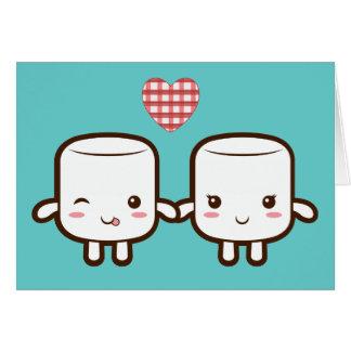 Cute Marshmallow couple Card