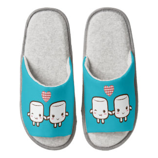 Cute Marshmallow couple Pair Of Open Toe Slippers