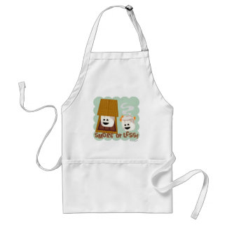 Cute Marshmallow Smores Saying Adult Apron