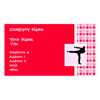 Cute Martial Arts Business Card Templates