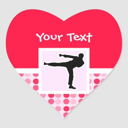 Cute Martial Arts Heart Stickers