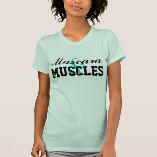 Cute Mascara & Muscles Fitted Racerback Tank