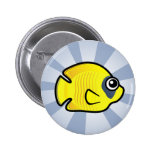 Cute Masked Butterflyfish Buttons