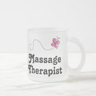 Cute Massage Therapist 10 Oz Frosted Glass Coffee Mug