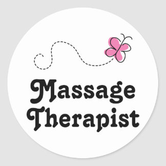 Cute Massage Therapist Classic Round Sticker