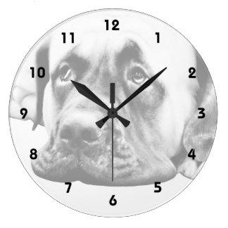Cute Mastiff dog Clocks