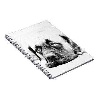 Cute Mastiff dog Spiral Notebook