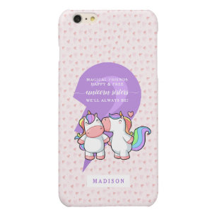 low priced 25f6f 09734 Cute Matching Best Friends Unicorn Quote Monogram Glossy iPhone 6 Plus Case