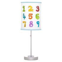 Cute math numbers desk lamp