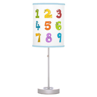 Cute math numbers desk lamp