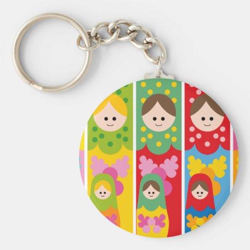 cute matryoshka key chains