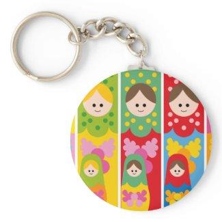 cute matryoshka keychain
