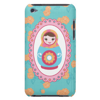 Cute Matryoshka Russian Nesting Doll and Roses iPod Case-Mate Cases